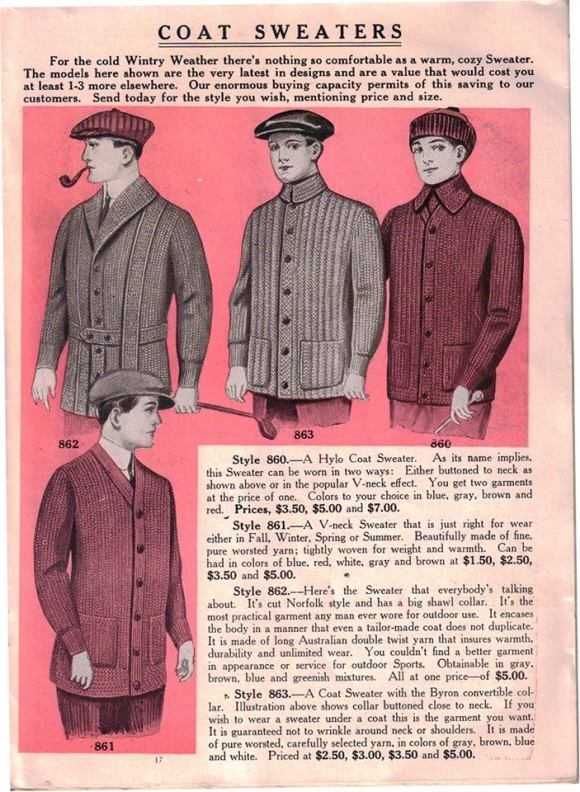 Knitted Men Vintage Coats